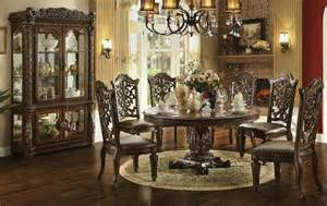 Round Formal Dining Room Sets Von Furniture Vendome Large Round Formal Dining Room Set