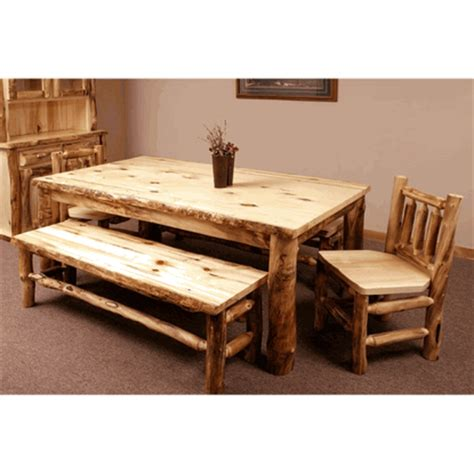 Log Dining Room Furniture Colorado Aspen Dining Table
