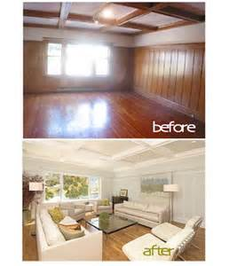 How To Update Wood Paneling Without Painting by Painted Wood Paneling Before After B B