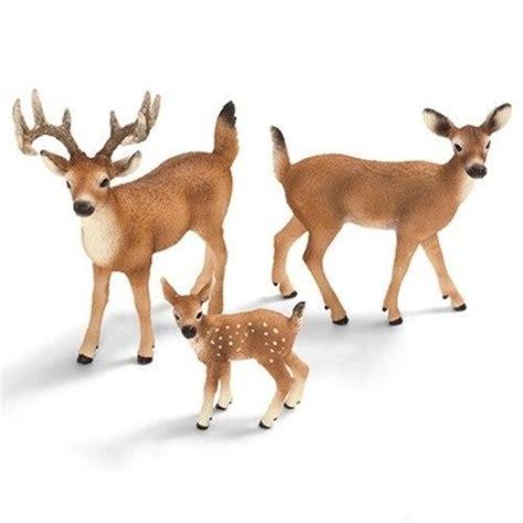 Schleich White Tailed Doe 14254 schleich animal figurine set 3 white tailed deer buck doe and fawn ebay