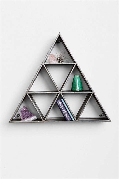 triangle wall shelf stacked pyramid storage triangle shelf