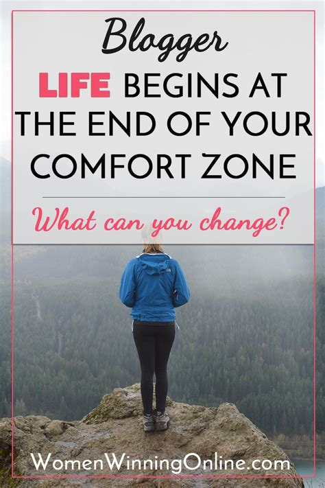 comfort of life life begins at the end of your comfort zone women