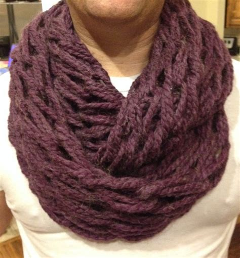 arm knitting infinity scarf arm knitting infinity scarf crafts