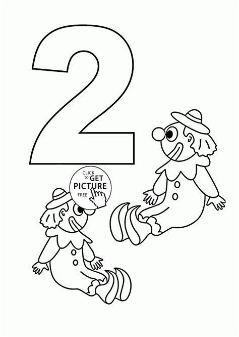 number 2 coloring page number 2 coloring page