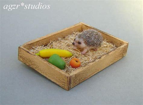 Handmade Miniatures - ooak handmade miniature hedgehog by agzr studios on deviantart