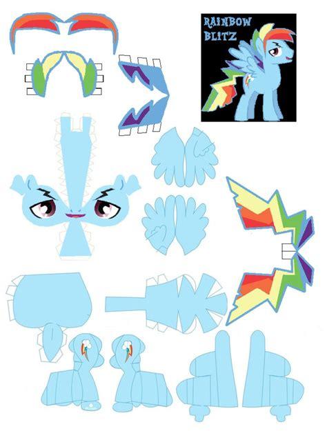 Rainbow Dash Papercraft - rainbow blitz by dryroutetodevon on deviantart