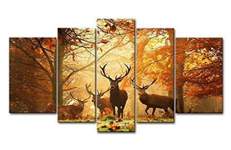 framed wall art canvas prints picture deer  autumn