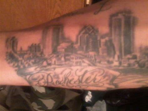 tattoo downtown rochester ny downtown skyline
