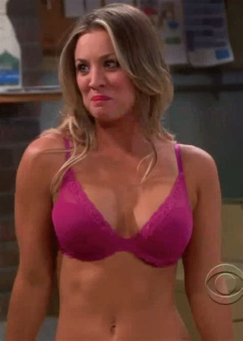 A Airbrushed Jeri In Fhm by Kaley Cuoco Bra