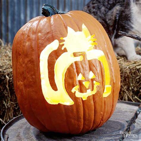 cat  lantern pumpkin stencil