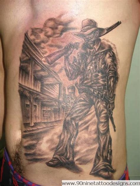 gallery for gt cowboy outlaw tattoo