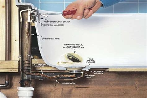 Bathroom How To Replace Old Bathtub Drain Replace