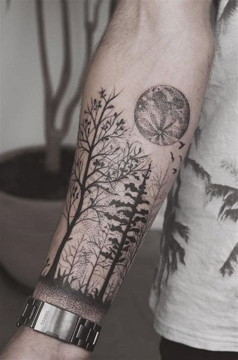 110 awesome forearm tattoos forest forearm tattoo