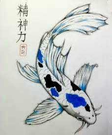 spiritual strength koi drawing by matt greganti
