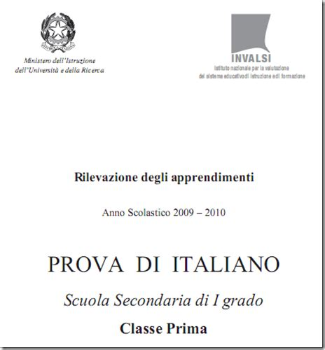 prove d ingresso prima media italiano con soluzioni testi e soluzioni delle prove invalsi 2010 per la prima