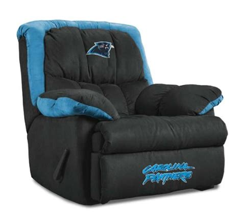 sports recliners carolina panthers nfl home team recliner baseline