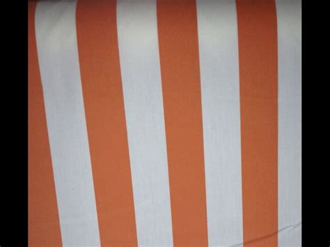awning stripe fabric awning tent stripe tangerine white famous maker printed