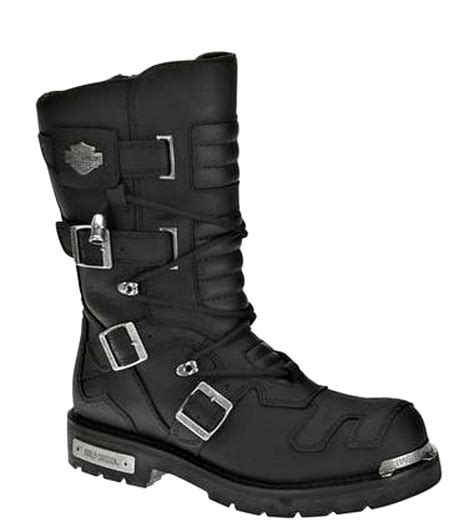motorcycle riding boots harley davidson 174 mens 10 quot tall axel riding black leather