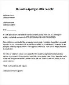 Apology Letter Exle Business Sle Formal Letter Format 34 Exles In Pdf Word