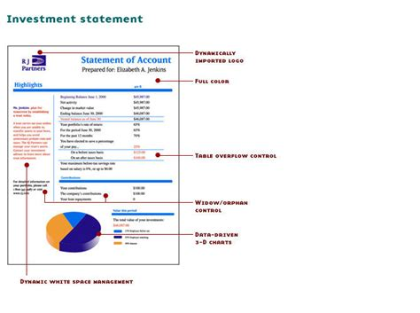 Hp Exstream Documentation by Start Investment Statement Overlay