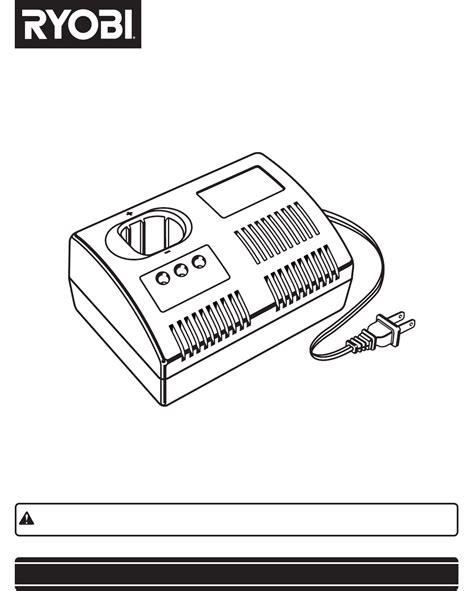 ryobi 18v battery charger manual ryobi p100 18v battery charger manual