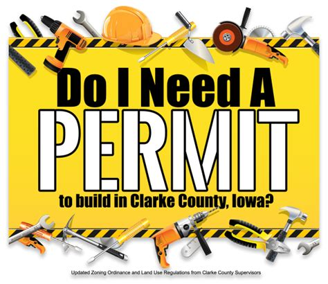 do i need a permit to build in clarke county iowa