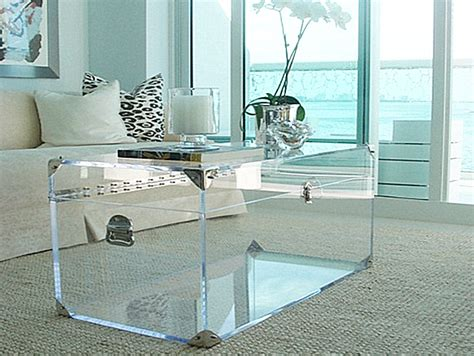 Lucite Trunk Coffee Table 20 Chic Acrylic Coffee Tables