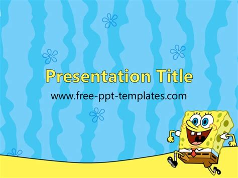 spongebob ppt template