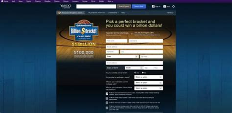 yahoo billion bracket challenge quickenloansbracket quicken loans billion dollar