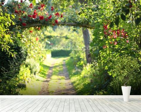 Rose Garden Wallpaper Wall Mural Wallsauce In The Garden Wall Mural