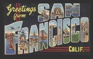 greetings from san francisco california post card