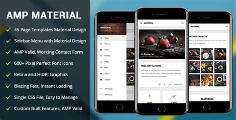 themes for google mobile amp material mobile google amp template download
