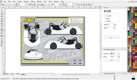 go kart template gkg design deposit