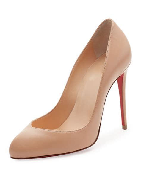 High Heel Shoes Christian christian louboutin breche leather 100mm sole