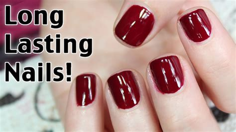 the best long lasting drugstore nail polish ive tried how to get long lasting nail polish youtube