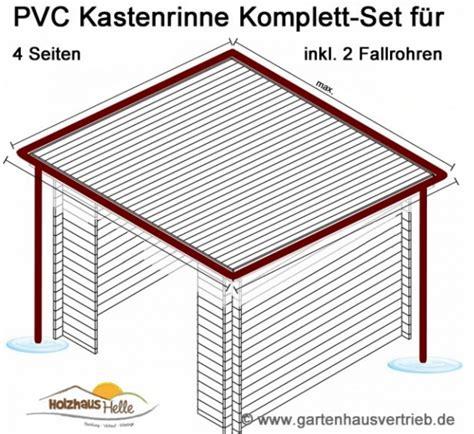 pavillon komplett set kunststoff dachrinnen komplett set f 252 r viereckd 228 cher