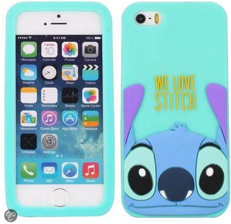 Stitch F0227 Iphone 5 5s bol lilo stitch 3d siliconen hoesje iphone 5 5s