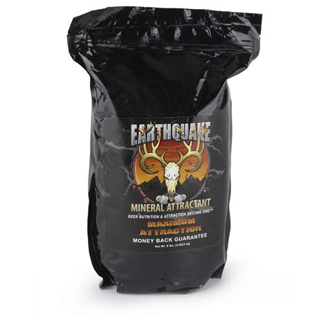 mdp earthquake whitetail mineral attractant 9 lb bag