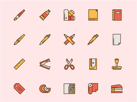 office desk icon office and desk icons sketch freebie free