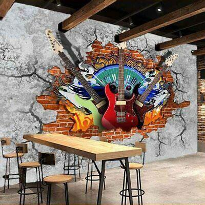 details sur  musique guitare graffiti papier peint