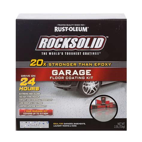 Garage Bausatz Massiv by Rust Oleum Grey Rocksolid Garage Floor Coating 1 Car