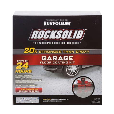 Rust Oleum Grey RockSolid Garage Floor Coating   1 Car