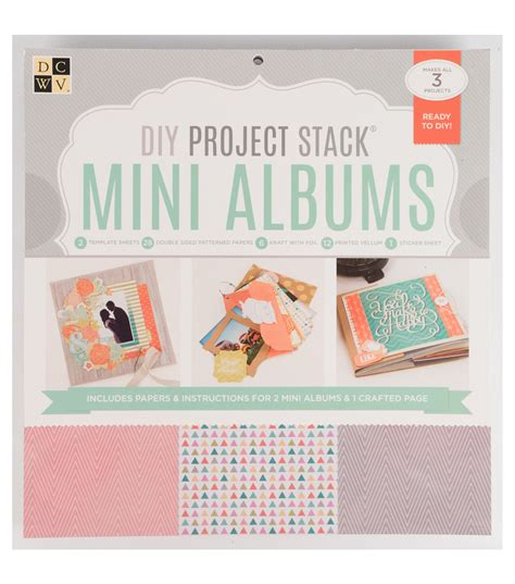 diy project websites dcwv diy project stack mini album joann