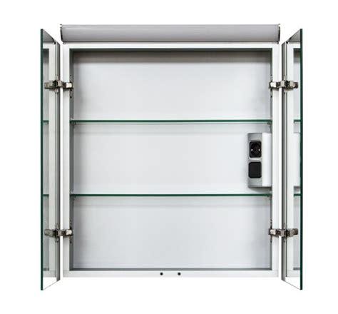 spiegelschrank steckdose spiegelschrank multy bs60 mit innenverspiegelung