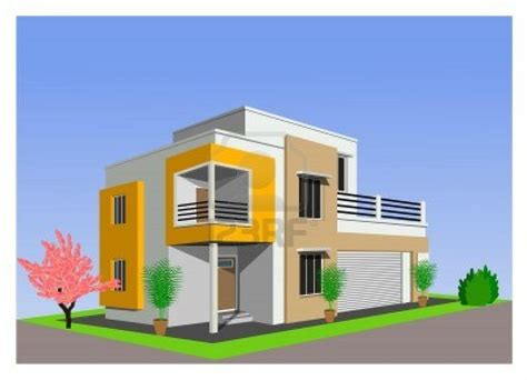 new style modern house drawing sketch with color in korea