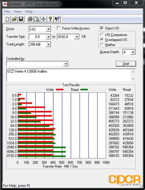 ssd bench mark ocz vertex 4 128gb ssd review custom pc review