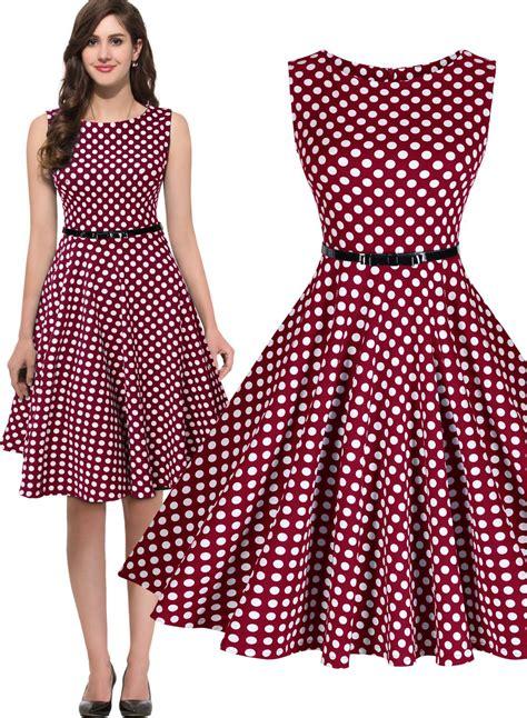 Decoration Trends 2017 Women S 1950 S Rockabilly Vintage Audrey Polka Dots Swing