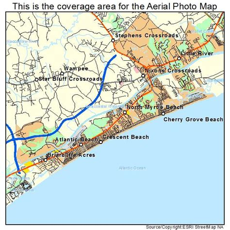 south myrtle beach sc map aerial photography map of north myrtle beach sc south