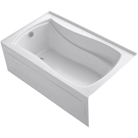 kohler acrylic bathtub kohler mariposa 5 ft acrylic left hand drain with