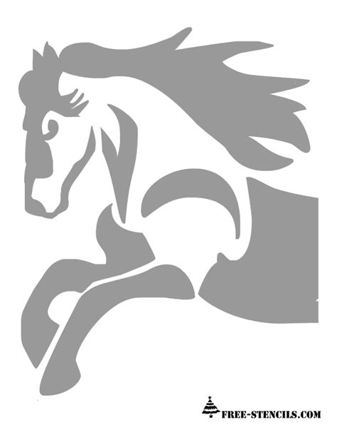 printable stencils for painting pumpkins free printable horse stencil stencils pinterest